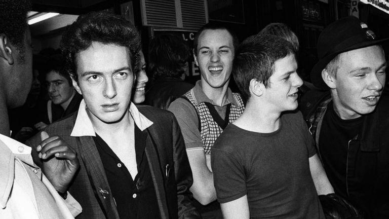The Clash's Joe Strummer in London. Pic: Denis O'Regan
