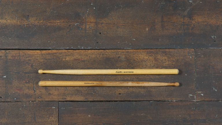 Drum sticks belonging to The Clash's Topper Headon, part of The Clash: London Calling, a free exhibit which runs at the Museum Of London from November 15 2019 to spring 2020