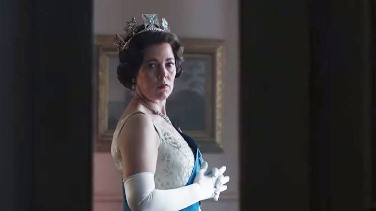 Olivia Colman as Queen Elizabeth II in new Netflix trailer for The Crown. Pic: Netflix
