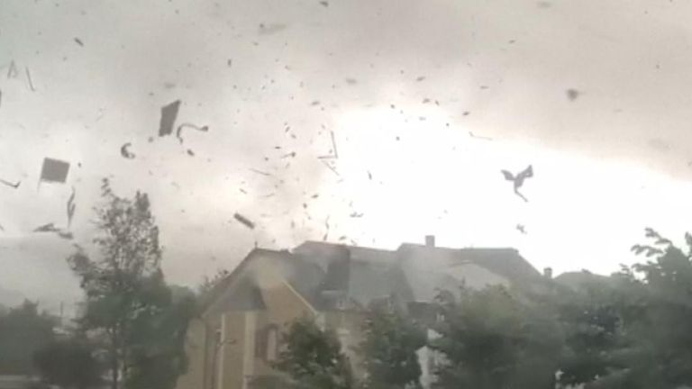 Tornado hits Luxembourg town