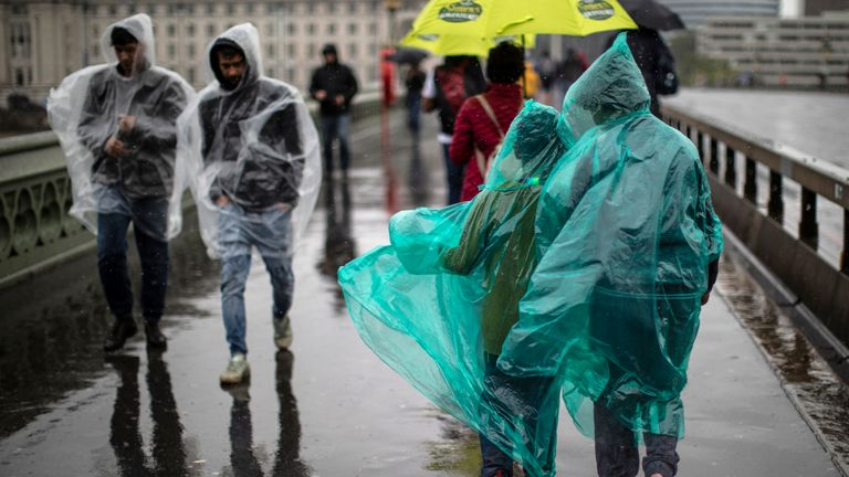 The UK is expecting a washout on Friday with nearly a month's rain set to fall