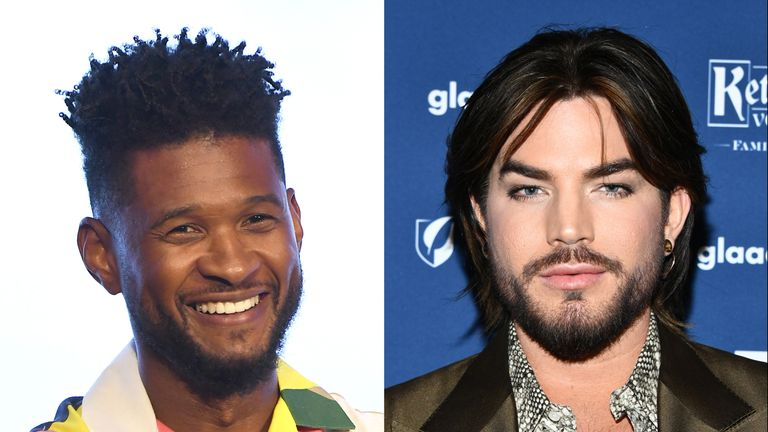Usher and Adam Lambert