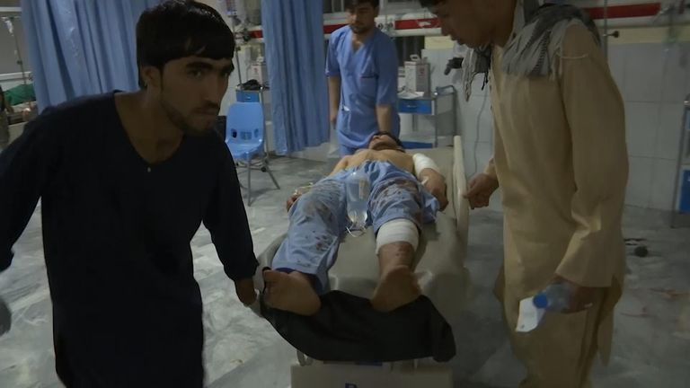 Dozens of people are feared dead or injured after an explosion ripped through a wedding hall in the Afghan capital of Kabul.