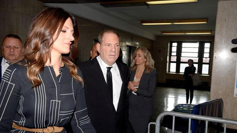 Weinstein arrived at court with his lawyer Donna Rotunno