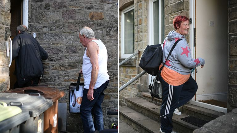 John and Jeff Lomas, and Melissa Broxup return to their homes