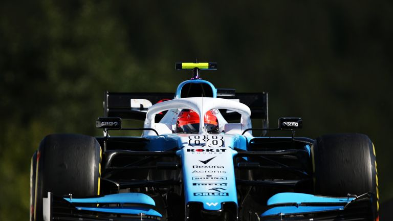 Robert Kubica in the Williams F1 car at the Belgium Grand Prix