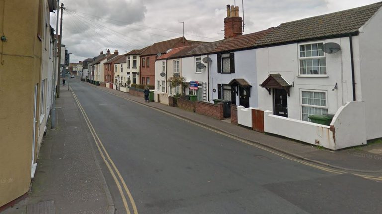 The incident took place on South Market Road in Great Yarmouth