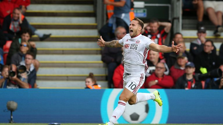 Billy Sharp scored his first Premier League goal to earn his team a point