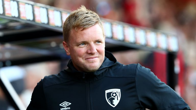 Eddie Howe's Bournemouth host Premier League champions Manchester City on Sunday