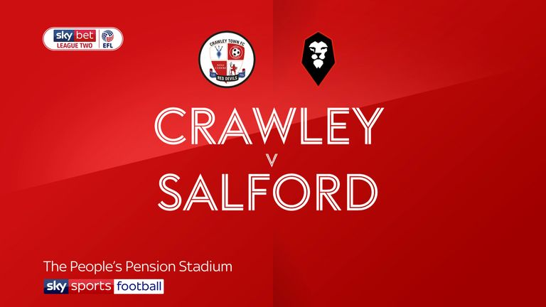 Highlights of the Sky Bet League Two match between Crawley and Salford