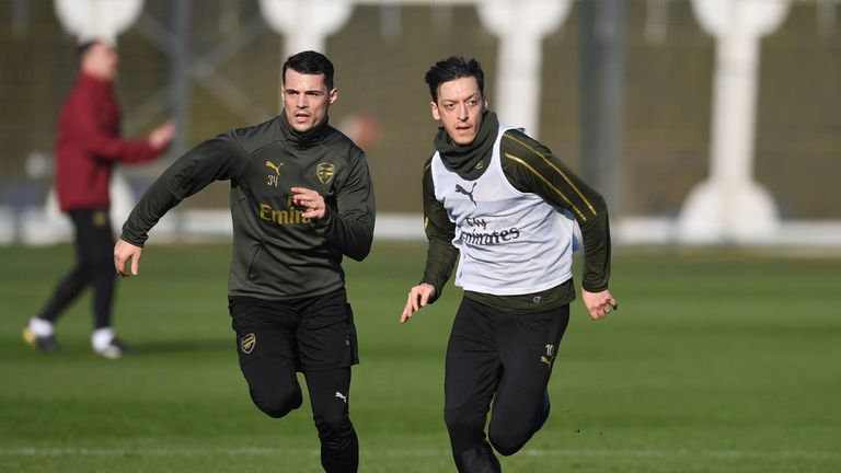 Mesut Ozil and Granit Xhaka