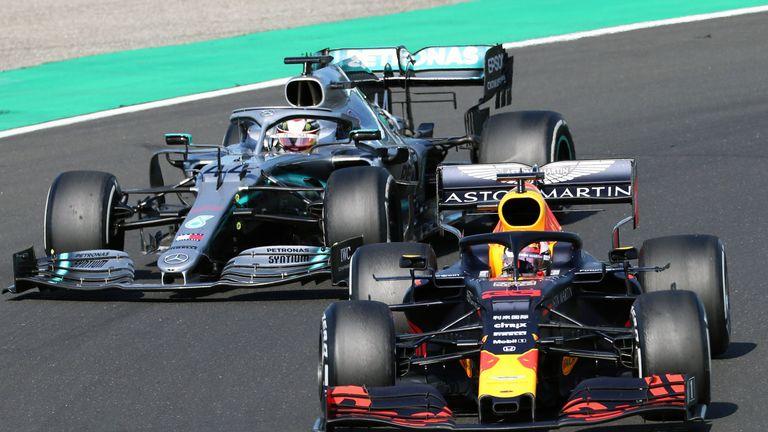 Hungarian GP: Lewis Hamilton hunts down Max Verstappen for