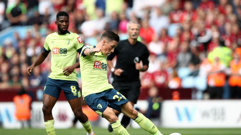 Harry Wilson scores Bournemouth's second goal