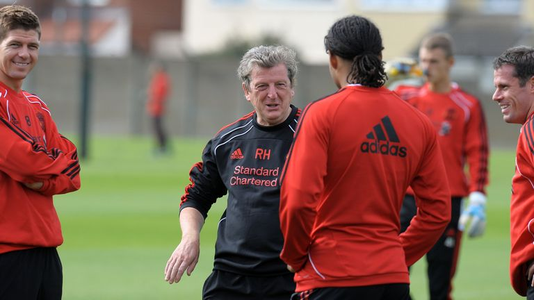 Jamie Carragher and Roy Hodgson Liverpool