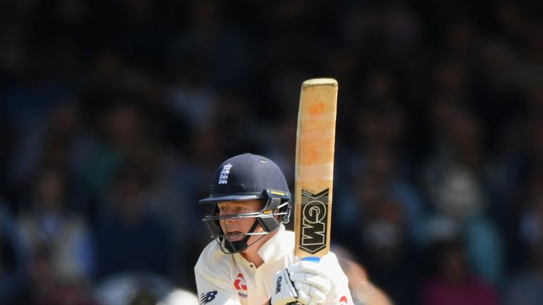 Ollie Pope during day three of the second Test Match between England and India at Lord's Cricket Ground on August 11, 2018 in London, England