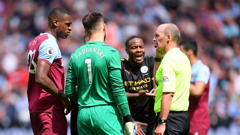 VAR disallowed a goal for the first time in the Premier League in Manchester City's 5-0 win over West Ham. Raheem Sterling was adjudged to be offside in the build-up to a Gabriel Jesus goal