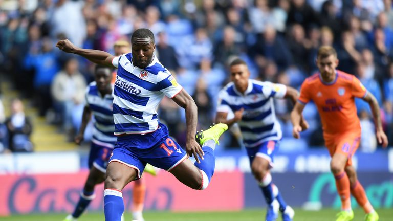 Reading's Yakou Meite missed a penalty during his club's 3-0 win against Cardiff