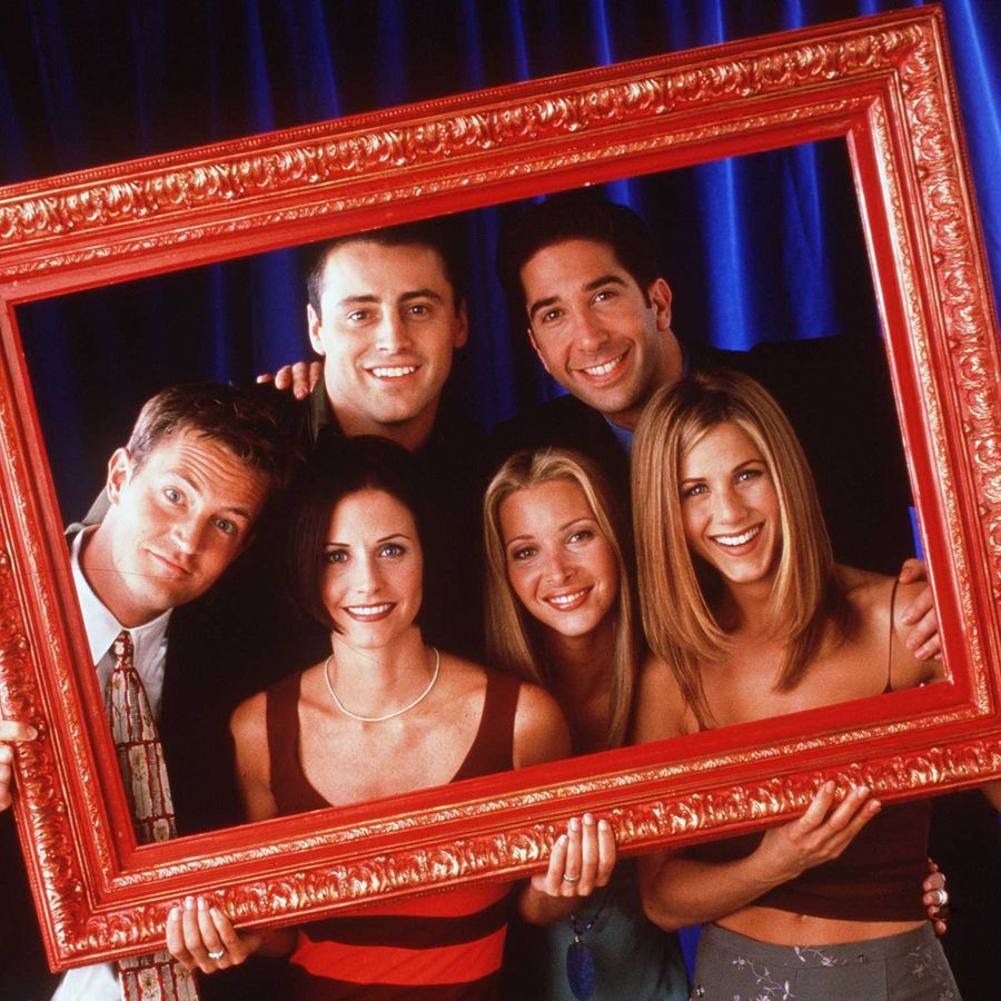 The cast of Friends, clockwise from top left: Matt LeBlanc (Joey), David Schwimmer (Ross), Jennifer Aniston (Rachel), Lisa Kudrow (Phoebe), Courteney Cox (Monica), Matthew Perry (Chandler)
