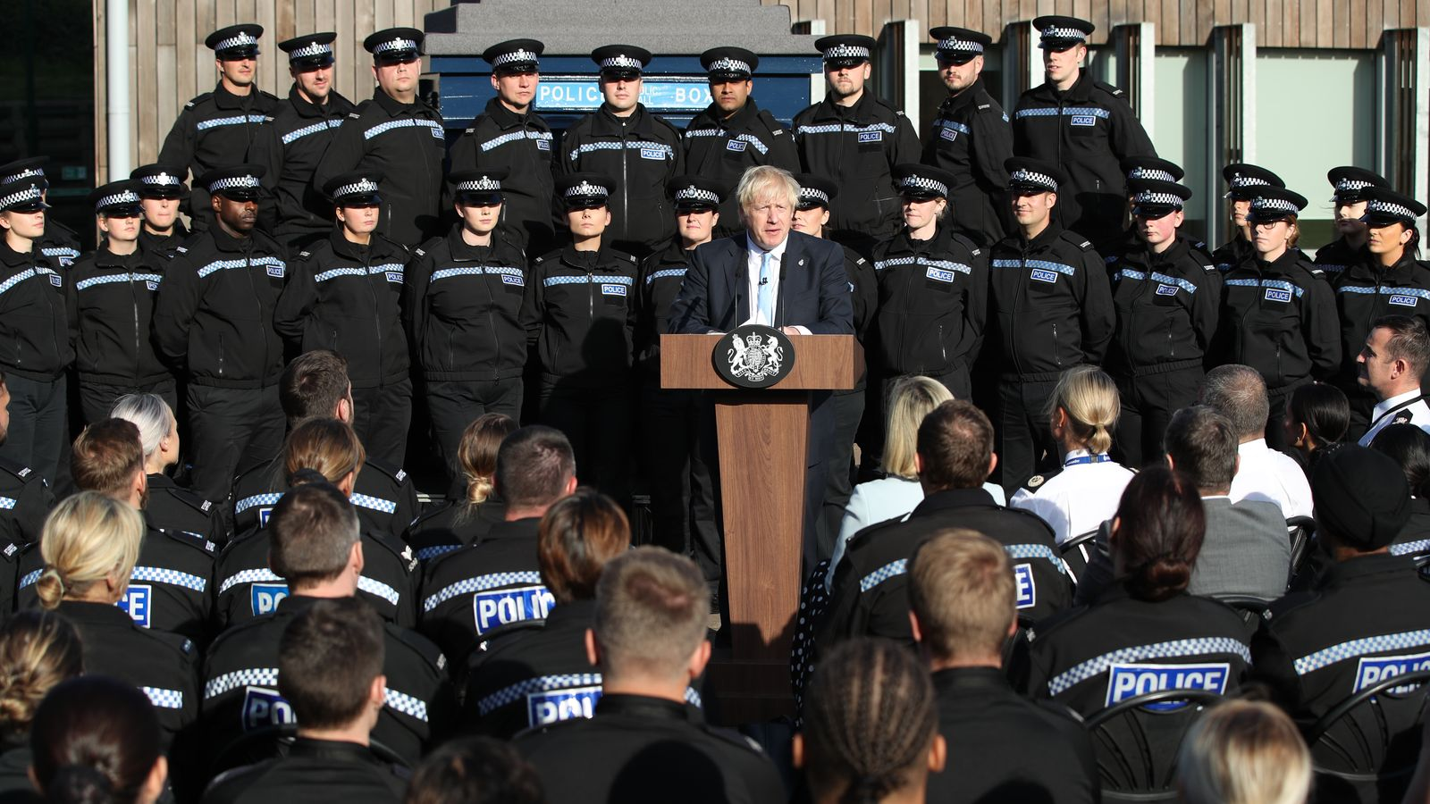 Top police officer condemns Boris Johnson for using 'my