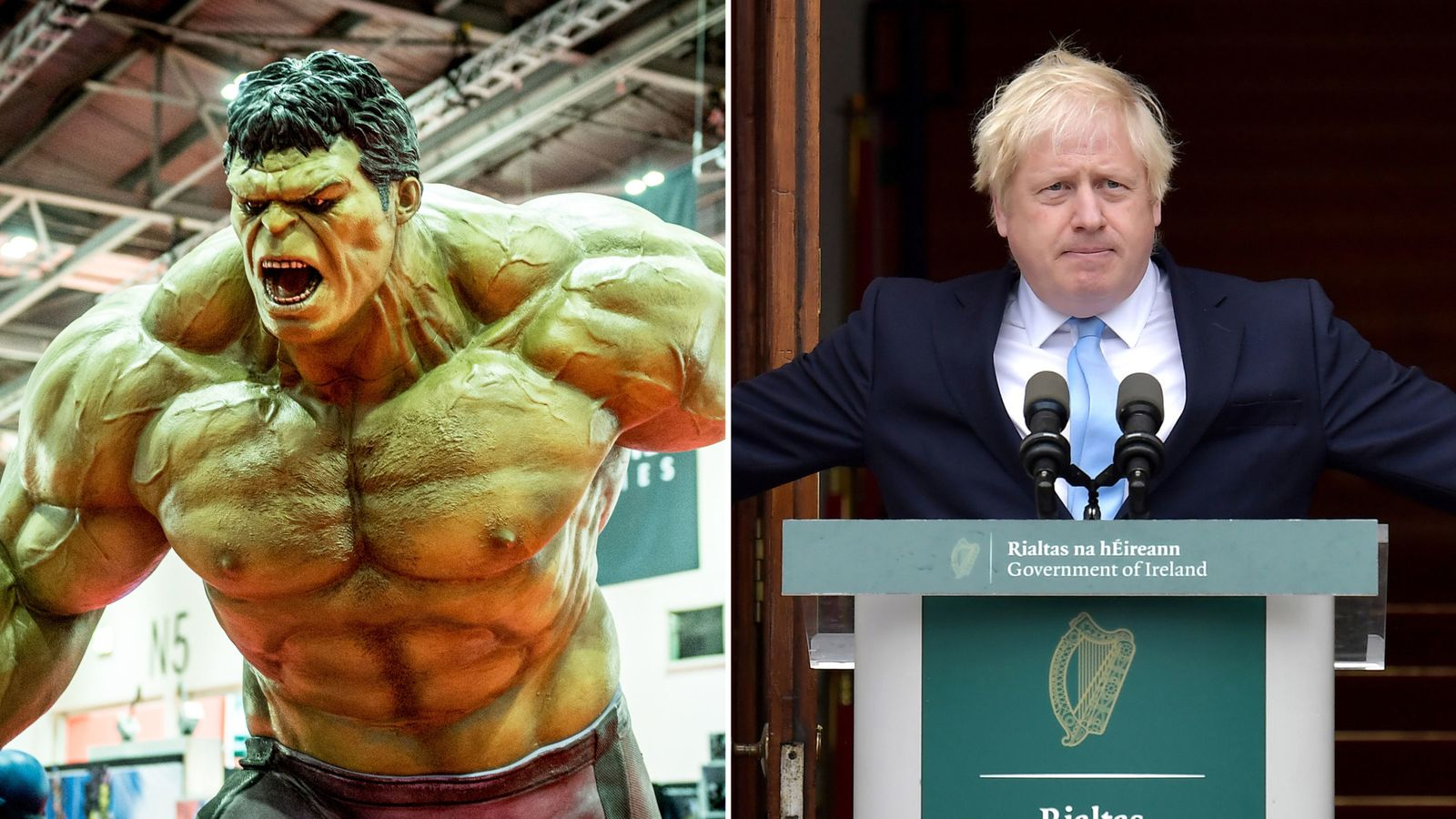 PM likens UK to Hulk as Brexit sec says 'landing zone' in sight for deal
