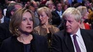 Amber Rudd and Boris Johnson