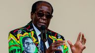 Zimbabwe President Robert Mugabe speaks at the party's annual conference on December 17, 2016 in Masvingo. Zimbabwe's ruling ZANU-PF party's congress endorsed on December 17, 2016 President Robert Mugabe as its candidate for the 2018 election, which could extend his 36 years in office. The leader was endorsed by all party structures at the meeting held in Masvingo, 300 kilometres (186 miles) southeast of the capital Harare. / AFP PHOTO / Jekesai NJIKIZANA (Photo credit should read JEKESAI NJIKIZ