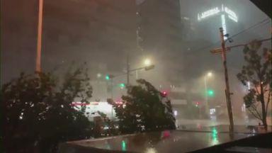 'Treacherous conditions in Tokyo'