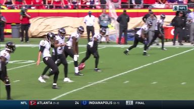 Justin Tucker's mad drop kick