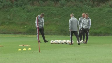 Ole on target during Man Utd training!