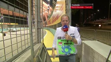 Brundle trackside in Singapore