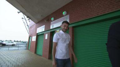 Taylor arrives at Celtic Park