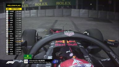 Albon puts Red Bull in barriers