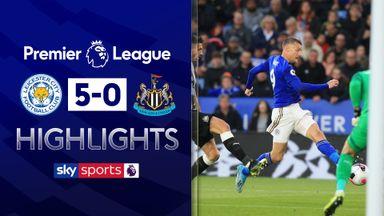 Leicester thrash 10-man Newcastle