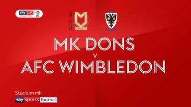 MK Dons 2-1 AFC Wimbledon