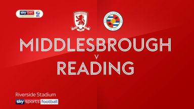 Middlesbrough 1-0 Reading