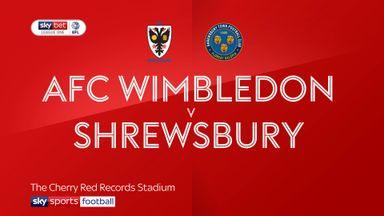 AFC Wimbledon 1-1 Shrewsbury
