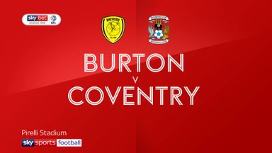 Burton 0-0 Coventry