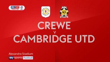 Crewe 2-3 Cambridge Utd