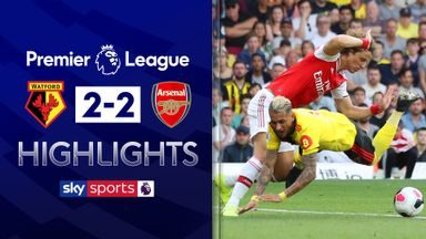 Watford fight back to draw with Arsenal