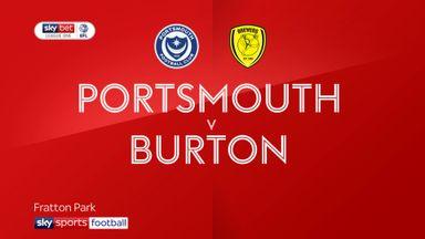 Portsmouth 2-2 Burton