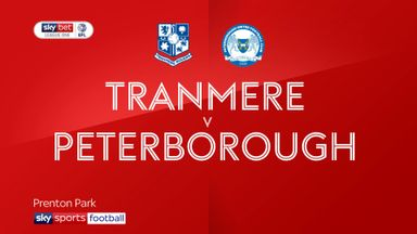 Tranmere 2-2 Peterborough