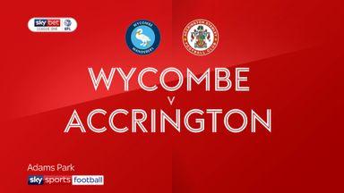 Wycombe 1-1 Accrington