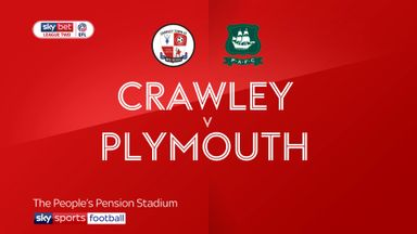 Crawley 2-2 Plymouth