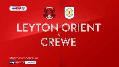 Leyton Orient 1-2 Crewe
