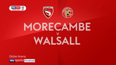 Morecambe 0-1 Walsall