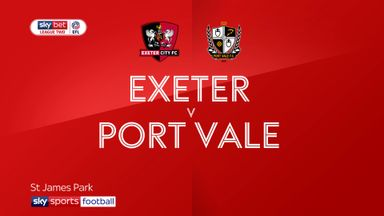 Exeter 2-0 Port Vale
