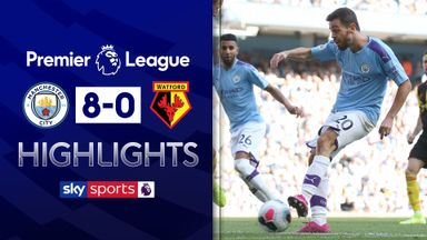 Man City hit eight past Watford
