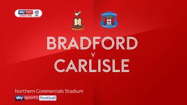 Bradford 3-1 Carlisle