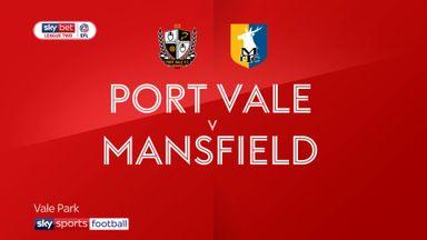 Port Vale 2-2 Mansfield