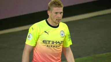 De Bruyne goes close (49)
